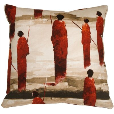 Foster Masai Warrior Throw Pillow Color: Red