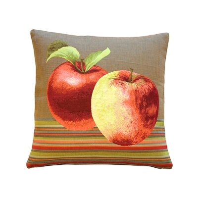 Fresh Apples Throw Pillow Color: Brown