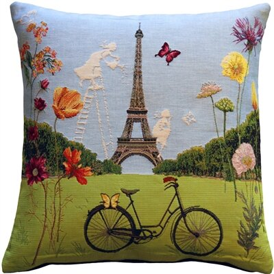 Eiffel Tower in Spring Throw Pillow