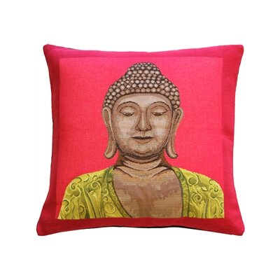 Hensley Buddha Throw Pillow Color: Pink