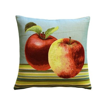 Alderson Apples Throw Pillow Color: Blue