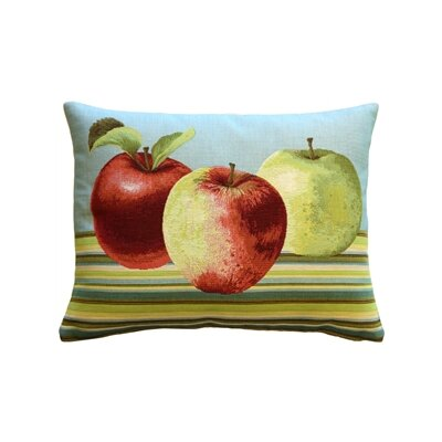 Fresh Apples Lumbar Pillow Color: Blue
