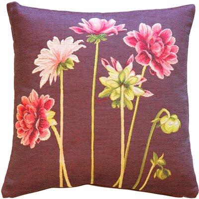 Dahlias Square Throw Pillow Color: Pink