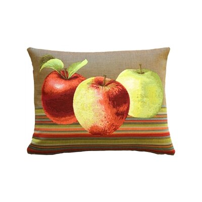 Alderson Apples Lumbar Pillow Color: Brown