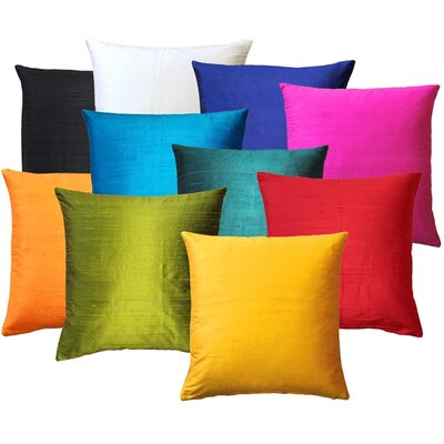 Sankara Silk Throw Pillow Size: 20 H x 20 W x 6 D