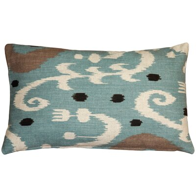 Chalmers Ikat Lumbar Pillow Color: Blue