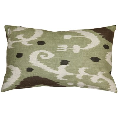 Indah Ikat Lumbar Pillow Color: Green