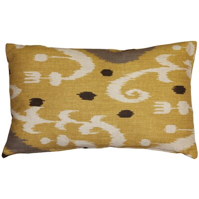 Chalmers Ikat Lumbar Pillow Color: Yellow