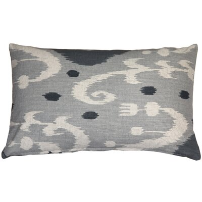 Chalmers Ikat Lumbar Pillow Color: Gray