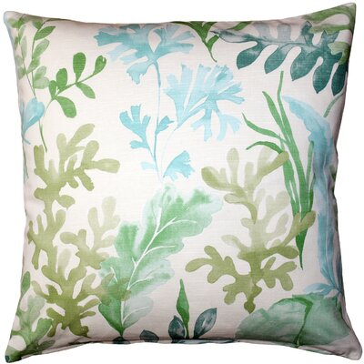 Everly Cotton Throw Pillow Color: Green