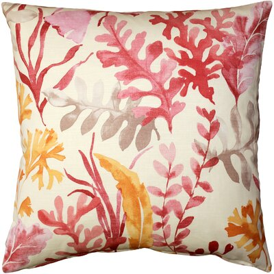 Everly Cotton Throw Pillow Color: Pink