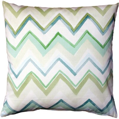 Vallone Cotton Throw Pillow Color: Green