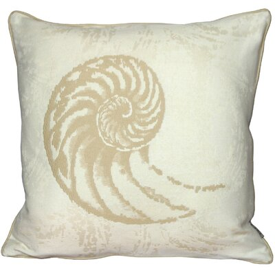 Aragon Nautilus Shell Throw Pillow Color: Cream