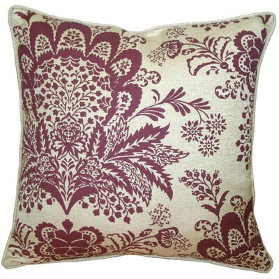 Chandelle Floral Throw Pillow Color: Purple