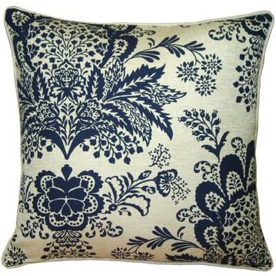 Rustic Floral Throw Pillow Color: Blue