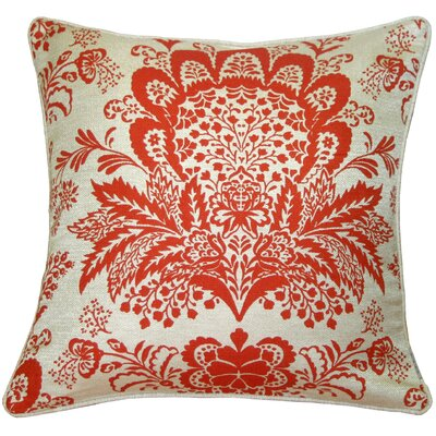 Chandelle Floral Throw Pillow Color: Orange