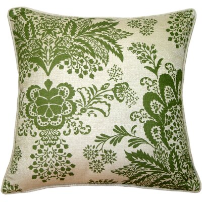 Chandelle Floral Throw Pillow Color: Green