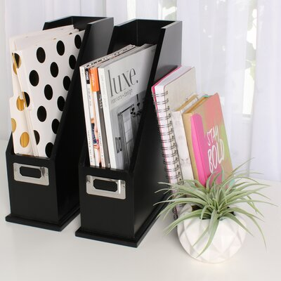 Francesca Wood Magazine Holder Desktop Organizers