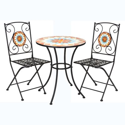 Mosaic 3 Piece Bistro Set