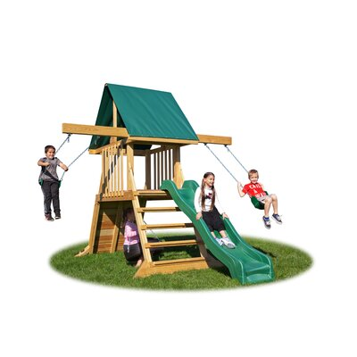 Backyard Cliff Climb Play Swing Set