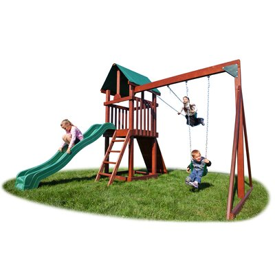 Backyard Hideout Play Swing Set