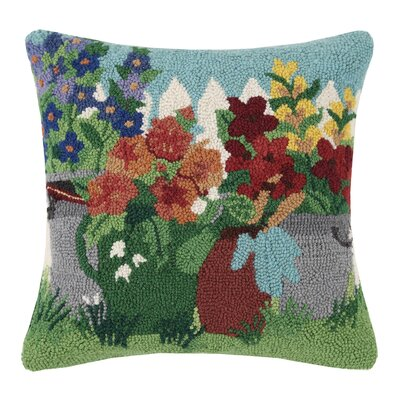 Potting Shed Spring 100% Wool Throw Pillow