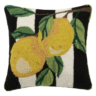 Lemon Branch Spring Garden 100% Wool Throw Pillow