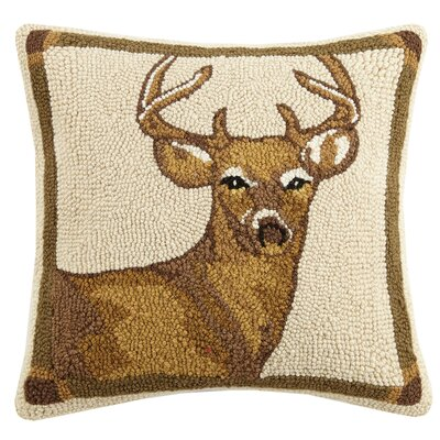 Deer Wool Throw Pillow