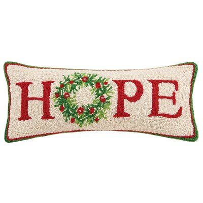 Hope Hook Wool Lumbar Pillow