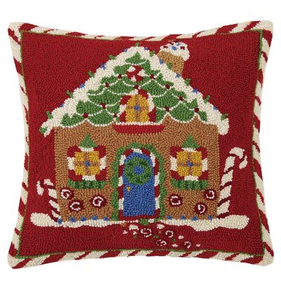 Gingerbread Joy Hook Wool Throw Pillow