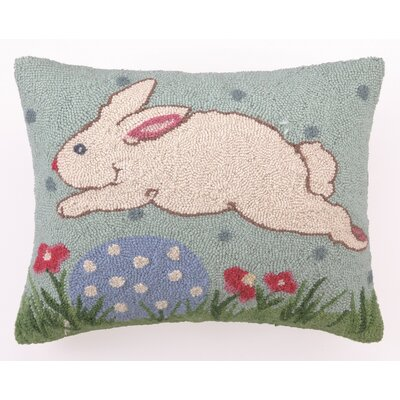 Happy Easter Hook Wool Lumbar Pillow