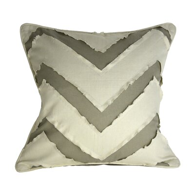 Patina Vie Chevron Fray 100% Cotton Throw Pillow