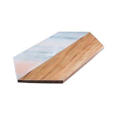 Marble and Acacia Wood Octagon Board