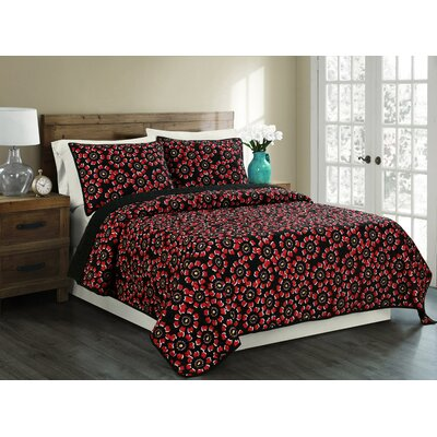 Flores Reversible Quilt Set Size: Full/Queen