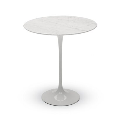 Round End Table Color: White