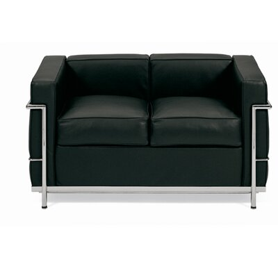 Petite Leather Loveseat