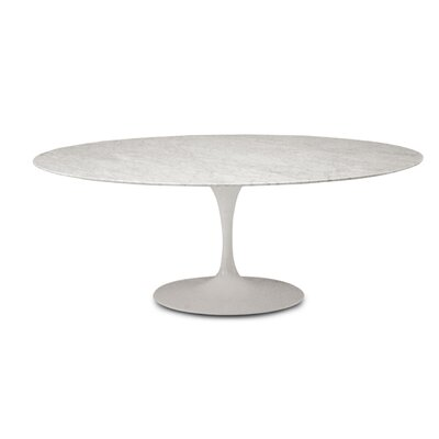 Oval Dining Table Size: 28.25 H x 33.5 W x 63 D