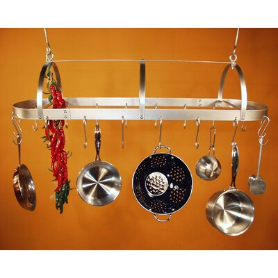 HSM Hooded Oval Hanging Pot Rack - Grid: With Grid at Sears.com