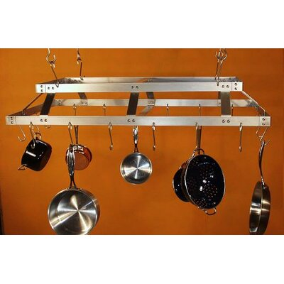 HSM Commercial Rectangular Hanging Pot Rack - Grid: Without Grid at Sears.com