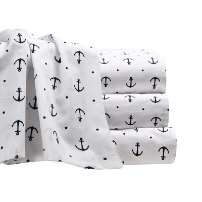 Shapleigh Anchor Microfiber Sheet Set Size: Full
