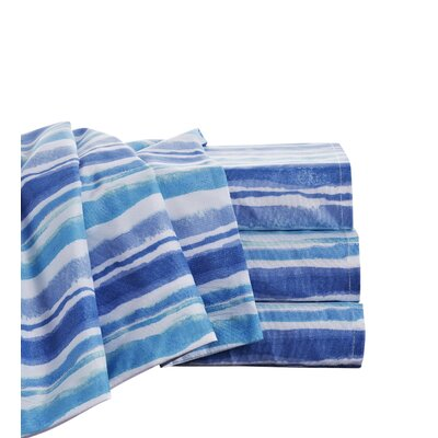 Boyers Waves Microfiber Sheet Set Size: Queen