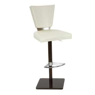 Monroe Adjustable Height Bar Stool Upholstery: Cream