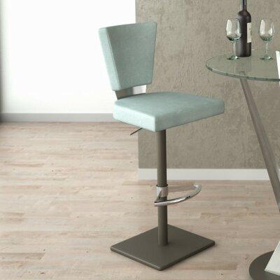 Monroe Adjustable Height Bar Stool Upholstery: Fern