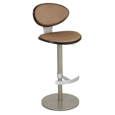 Vera Adjustable Height Bar Stool Upholstery: Paprika