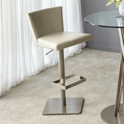 Soho Adjustable Height Bar Stool Upholstery: Raimee