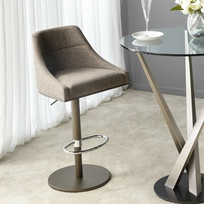 Sienna Adjustable Height Bar Stool Upholstery: Star