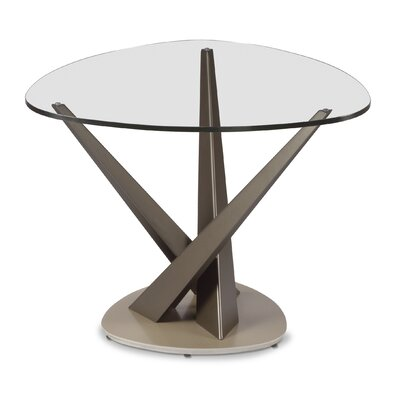 Crystal Triangular End Table