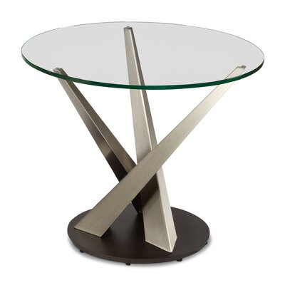 Crystal Round End Table