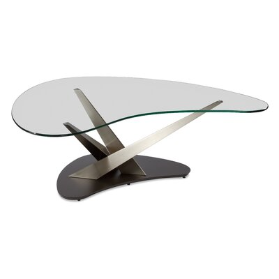 Crystal Boomerang Coffee Table