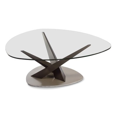 Crystal Triangular Coffee Table
